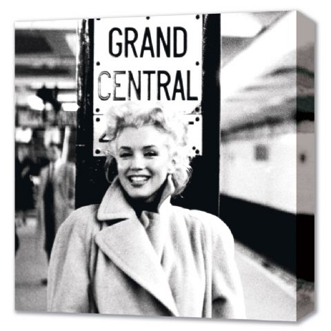 Grand Central Station, Marilyn Monroe Canvas Canvas Print - PopArtUK