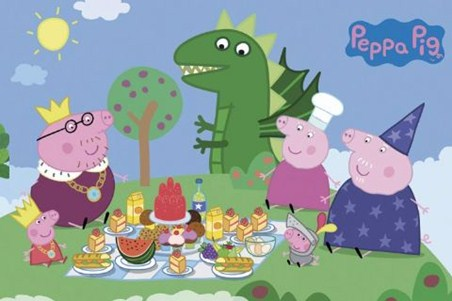 Princess Picnic Peppa Pig Poster PopArtUK