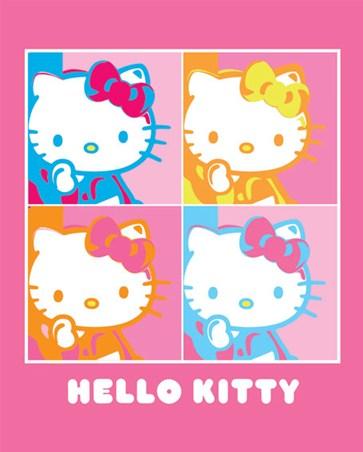 Pop Art Portraits Hello Kitty Mini Poster Popartuk