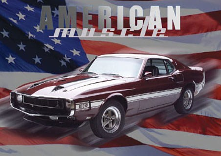 ford shelby mustang gt350, american muscle poster - buy online