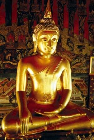 golden buddha statue buddha poster popartuk