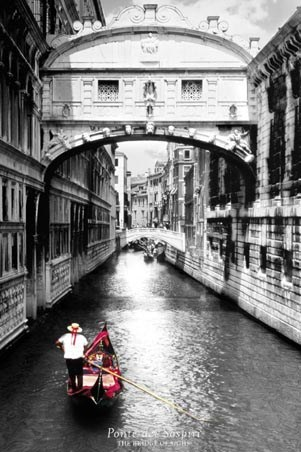 The bridge of sighs venice photography poster 61cm x 91 5cm 24 x 36