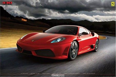 Ferrari 430 Scuderia Italian Sports Car Poster Popartuk