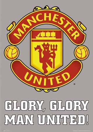Man Utd Fc Club Badge Manchester United Football Club Poster Popartuk